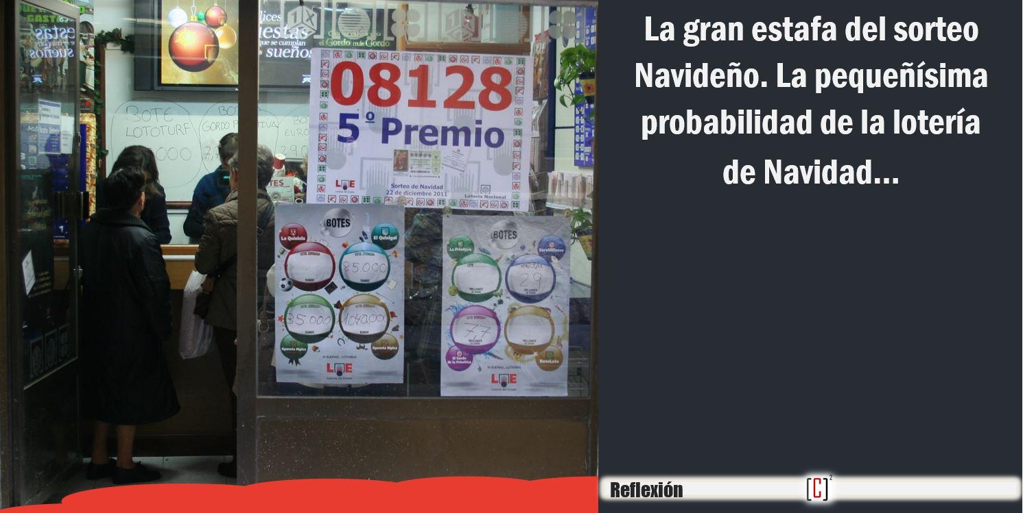 probabilidad de la lotería de Navidad