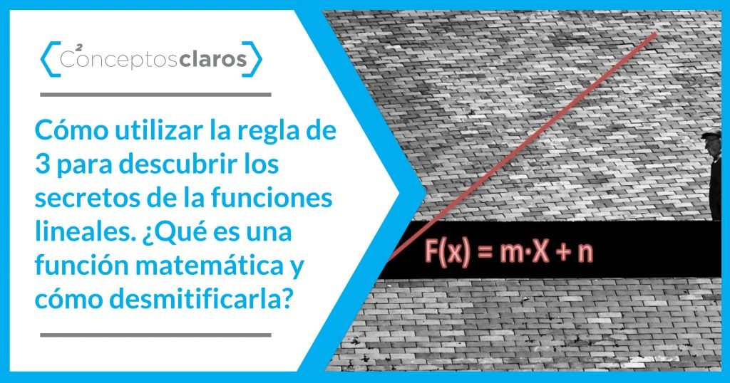 cómo usar la regla de 3 para funciones lineales