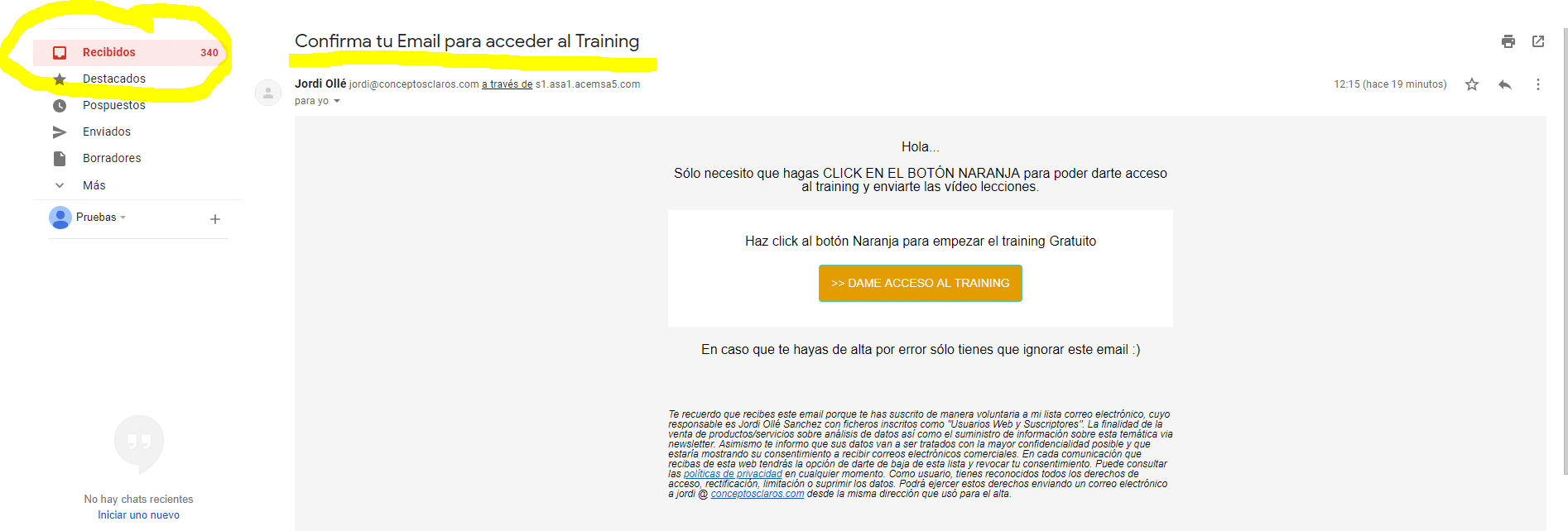 confirma-email-training